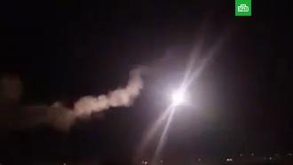 Опубликовано видео отражения ракетной атаки на юге Дамаска