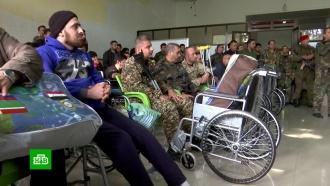 Российские военные привезли инвалидные кресла в госпиталь Алеппо