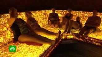 В Литве открыли первую в мире янтарную сауну