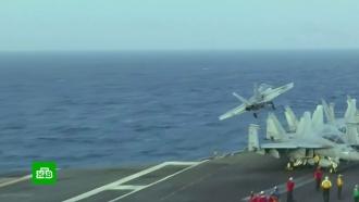 Врайоне столкновения военных самолетов США нашли летчика