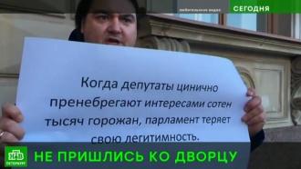 Пересмотренный закон о парках и скверах вынудил петербуржцев выйти на пикет