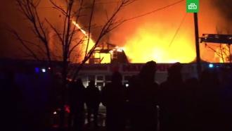 Крупный пожар тушат вАнапе