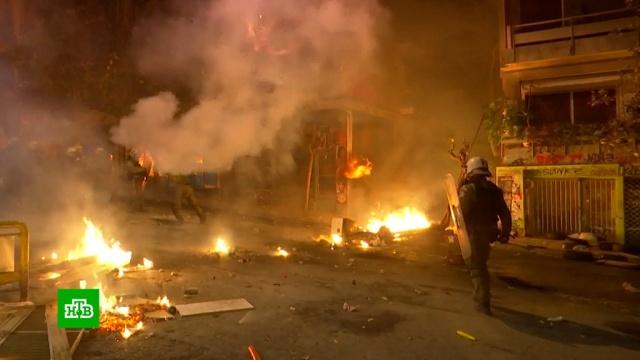 В Афинах задержаны десятки участников беспорядков.беспорядки, Греция, митинги и протесты.НТВ.Ru: новости, видео, программы телеканала НТВ
