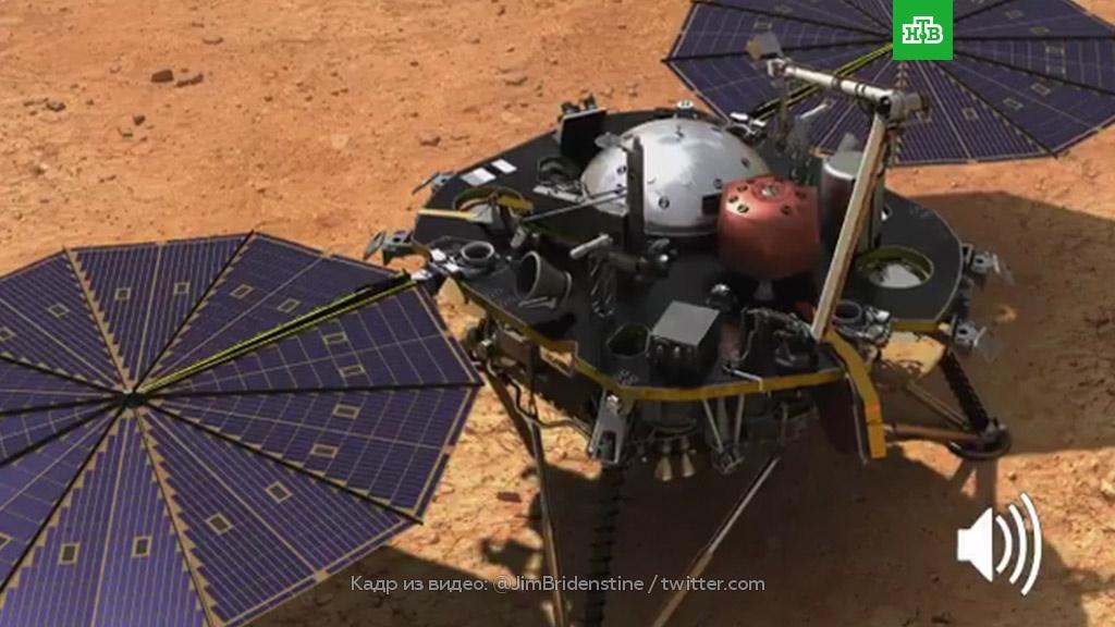 NASA опубликовало первую в историю запись шума марсианского ветра.Марс, НАСА, космонавтика, космос.НТВ.Ru: новости, видео, программы телеканала НТВ