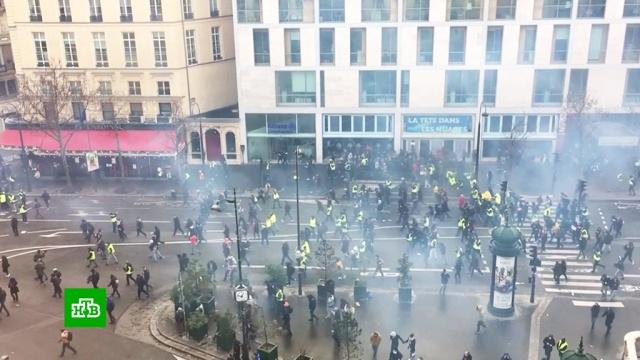 Число задержанных вПариже достигло беспрецедентного уровня.Париж, Франция, беспорядки, митинги и протесты, тарифы и цены.НТВ.Ru: новости, видео, программы телеканала НТВ