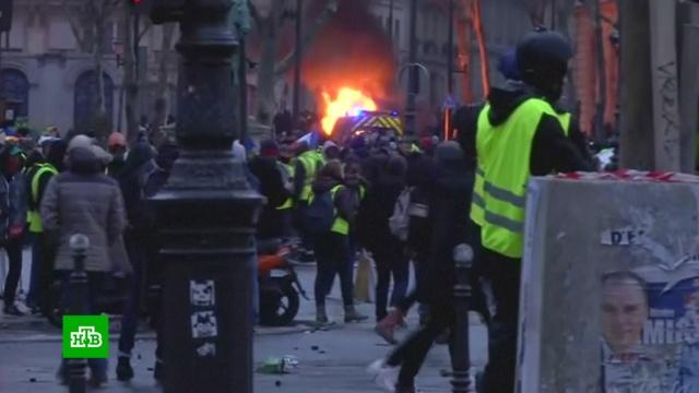На пороге восстания: «желтые жилеты» ждут от Макрона конкретных действий.Макрон, Франция, беспорядки, митинги и протесты.НТВ.Ru: новости, видео, программы телеканала НТВ