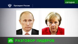 Путин иМеркель обсудили инцидент вКерченском проливе, Сирию иДРСМД