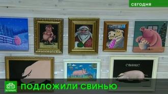 Художник Николай Копейкин встречает «свинский» год веселой выставкой с пятачками
