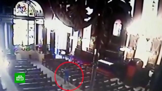 ВБразилии преступник расстрелял прихожан католического храма.Бразилия, стрельба.НТВ.Ru: новости, видео, программы телеканала НТВ