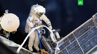 Российские космонавты изучили дыру в обшивке «Союза».космонавтика, космос, МКС, ремонт, Роскосмос.НТВ.Ru: новости, видео, программы телеканала НТВ