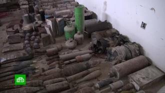 Вздании администрации под Дамаском нашли склад оружия террористов
