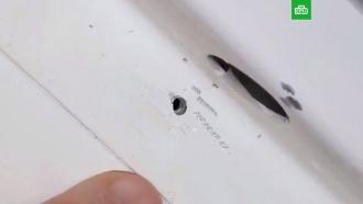 Дыра в обшивке «Союза» была заткнута тампоном.МКС, Роскосмос, космонавтика, космос, ремонт.НТВ.Ru: новости, видео, программы телеканала НТВ