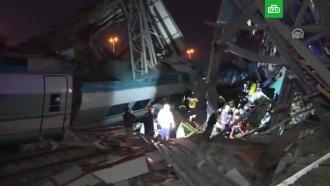 При крушении поезда вТурции погибли четыре человека, 43ранены