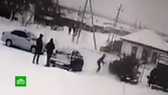 В Алтайском крае иномарка снесла людей на остановке
