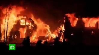 ВЮгре пожар сделал бездомными 80жителей поселка