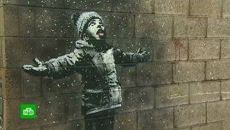 Граффити Бэнкси на гараже в Уэльсе взяла под охрану полиция
