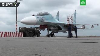 Крымский аэродром Бельбек впервые после реконструкции принял истребители