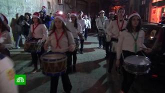 Сирийские христиане устроили вРождество карнавальное шествие