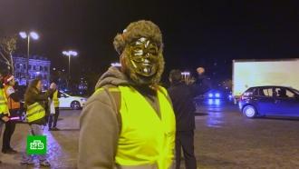 Желтые жилеты отметили Рождество массовой акцией на Елисейских Полях
