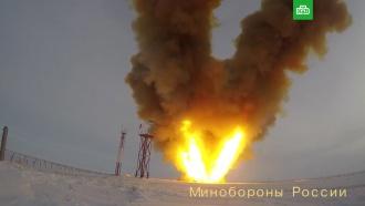 Минобороны показало кадры испытательного пуска комплекса «Авангард»