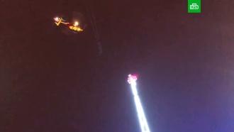Во Франции для спасения людей с неисправного аттракциона потребовался вертолет
