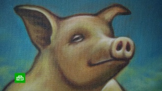 Питерская галерея «Свиное рыло» представила новогодний вернисаж с пятачками