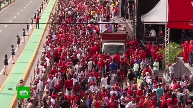 ВВенесуэле сторонники Мадуро устроили гулянья по случаю инаугурации.Аргентина, Венесуэла, Парагвай, дипломатия, инаугурации.НТВ.Ru: новости, видео, программы телеканала НТВ