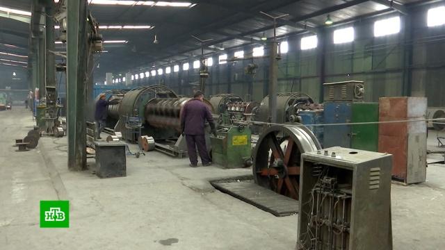 В сирийском Алеппо восстановили завод по производству электрокабелей.Сирия, войны и вооруженные конфликты, заводы и фабрики.НТВ.Ru: новости, видео, программы телеканала НТВ