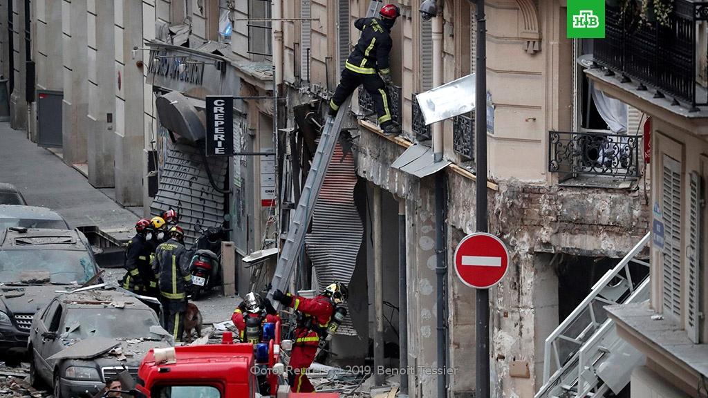 В Париже сообщили об угрозе обрушения дома, где произошел взрыв.Париж, Франция, взрывы.НТВ.Ru: новости, видео, программы телеканала НТВ