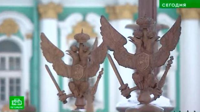 Скульптуру орла с Дворцовой площади сделают антивандальной.Санкт-Петербург, Эрмитаж, реконструкция и реставрация, скульптура.НТВ.Ru: новости, видео, программы телеканала НТВ