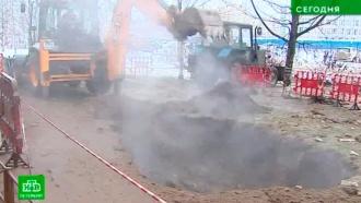 На Шуваловском проспекте Петербурга подсчитывают ущерб от масштабной коммунальной аварии