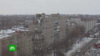 Обрушившийся дом в Шахтах сняли с высоты птичьего полета
