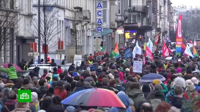 «Желтые жилеты» создают партию вБельгии.Бельгия, Макрон, Франция, беспорядки, митинги и протесты.НТВ.Ru: новости, видео, программы телеканала НТВ