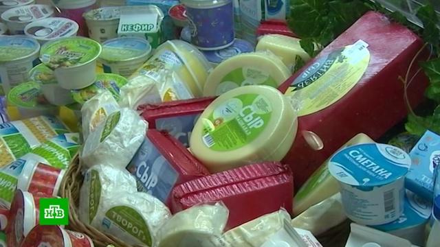 Роспотребнадзор нашел на прилавках фальсификат молока и твердого сыра.Роспотребнадзор, еда, магазины, продукты, торговля.НТВ.Ru: новости, видео, программы телеканала НТВ