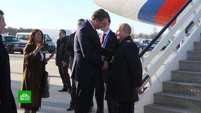 Путину устроили торжественную встречу вБелграде.переговоры, Путин, Сербия.НТВ.Ru: новости, видео, программы телеканала НТВ