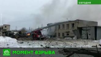 Момент взрыва на химзаводе вЛенобласти зафиксировали камеры наблюдения