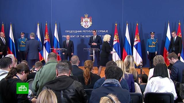 Путин иВучич подписали 20документов осотрудничестве.Путин, Сербия, переговоры.НТВ.Ru: новости, видео, программы телеканала НТВ