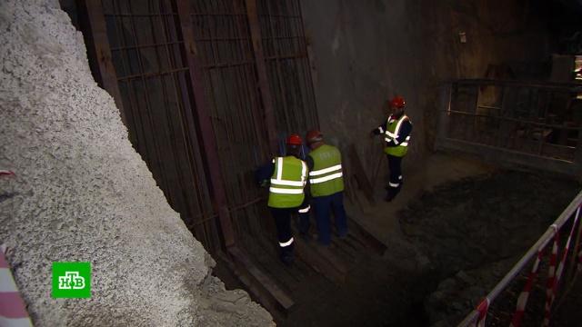 Завершена прокладка железнодорожного туннеля на подходах кКрымскому мосту.Крым, мосты, строительство.НТВ.Ru: новости, видео, программы телеканала НТВ