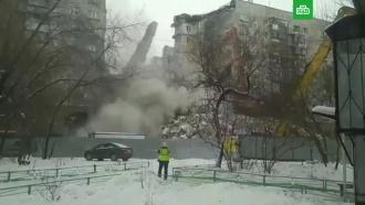 В Магнитогорске снесли поврежденную взрывом стену дома