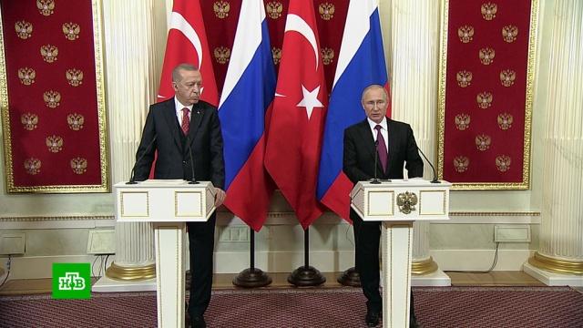 Путин иЭрдоган обсудили сотрудничество вторговле иэнергетике.Путин, Сирия, Эрдоган, переговоры, энергетика.НТВ.Ru: новости, видео, программы телеканала НТВ