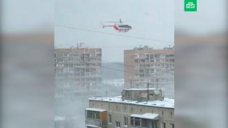 ВМоскве вдевятиэтажке произошел взрыв газа ивспыхнул пожар