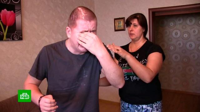 Искалеченный на «спарринг-приемке» в ОМОН парень заново учится ходить.драки и избиения, ОМОН, Тюмень.НТВ.Ru: новости, видео, программы телеканала НТВ