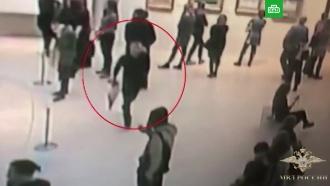 Опубликовано видео похищения картины Куинджи из Третьяковки