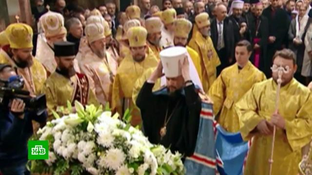 Предстоятель новой украинской церкви возведен на престол.Украина, православие, религия.НТВ.Ru: новости, видео, программы телеканала НТВ