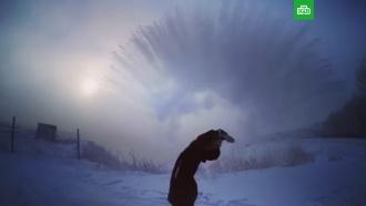 #дубакчеллендж: жители Сибири начали яркий морозный флешмоб