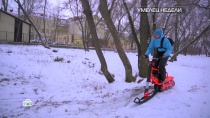 Изобретатель из Самары иего бесшумный электрический сноускутер.НТВ.Ru: новости, видео, программы телеканала НТВ