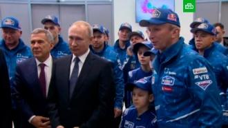 Путин встретился скомандой <nobr>«КамАЗ-мастер»</nobr>