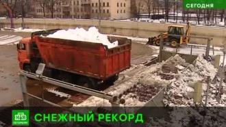 Питерские коммунальщики расплавили юбилейный кубометр снега