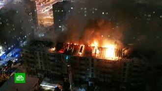 Крупный пожар произошел вмногоэтажном доме вНижневартовске