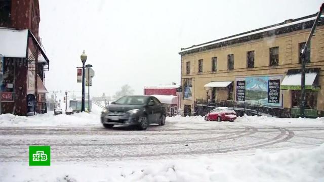 Снегопад игололедица: непогода вновь обрушилась на США.США, зима, погода, снег.НТВ.Ru: новости, видео, программы телеканала НТВ
